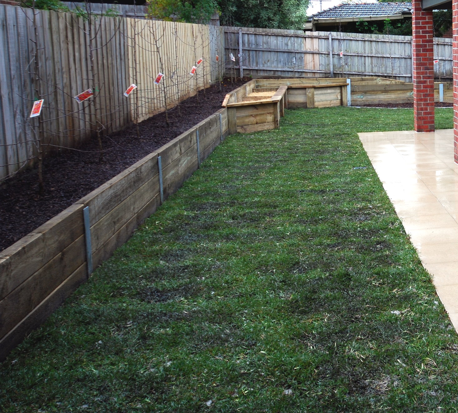 H Treated Pine Sleepers Garden Bed